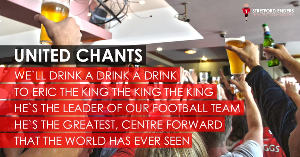 We drink a drink for Eric the King - Eric Cantona chant